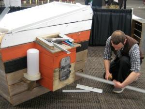 Portland Architect John Wright Constructing a Chicken Coop Ecoroof @Ecoroof Vendors Fair 2009